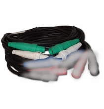 Lex #2 SC Cam Feeder Cable 2 Wired Banded White | Green | 50ft