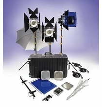 Lowel DP3 Jr. Light Kit with 3 1,000W DP Lights  DPT-93Z