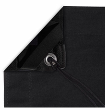 Modern Studio 10x20 Solid Black Overhead Fabric