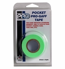 "ProTape Pocket Pro Gaff Tape 1"" x 6yds - Fluorescent Green"