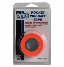 "ProTape Pocket Pro Gaff Tape 1"" x 6yds - Fluorescent Orange"