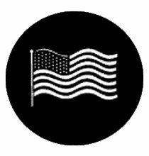 Rosco American Flag Waving Steel Gobo 77122