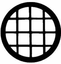 Rosco Circular Window 77136 Standard Steel Gobo