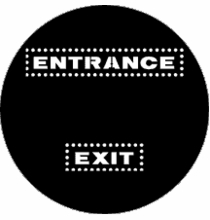 Rosco Entrance Exit 77971 Standard Steel Gobo