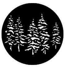 Rosco Pine Trees Steel Gobo 77551