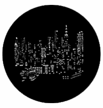 Rosco Standard Steel Gobo NYC Skyline 77287