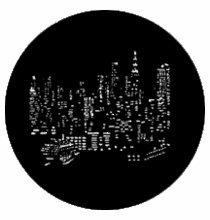 Rosco Standard Steel Gobo NYC Skyline 77287