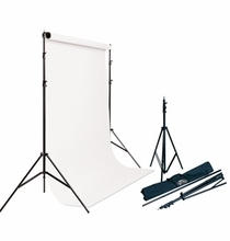 Savage Port-a-Stand + White Vinyl Background Kit 5'x12'