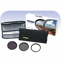 Tiffen 58mm Digital Essentials Filter Kit, UV, Polarizer, ND, 58DIGEK3