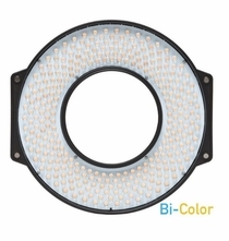 F&V Lighting Bi-Color LED Ring Light with Lens Mount and Carrying Case