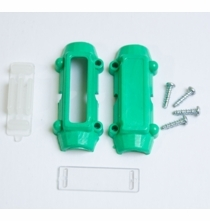 Bullet Cable Tie with Clear Label Window RFID - Green