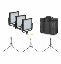 F&V Lighting K4000S SE BiColor LED Kit w/Stands -  V-Mount