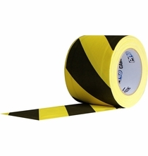 Pro Cable Path Tunnel Tape Black / Yellow 4 Inch