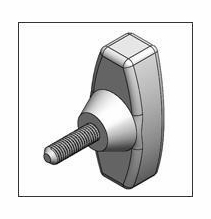 Matthews T Handle Knob 5/16-18 Serrated