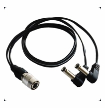 Battery Bud Hirose to Lectrosonics Cable 24 inch x 2