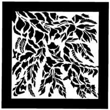 "Chimera Leaf Breakup Micro Window Pattern 16""x16"" 5355"