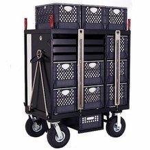 BackStage Equipment 7-Crate Set Box Cart