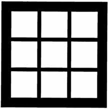 "Chimera French Doors Micro Window Pattern 16""x16""  5315"