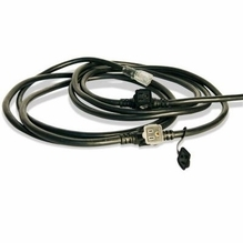 Black SJOOW 20A Bates Stage Pin Extension Cord 50ft