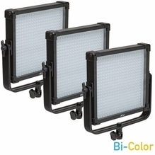 F&V Lighting K4000S SE BiColor 1x1 LED Light Panel 3 Light Kit V-Mount