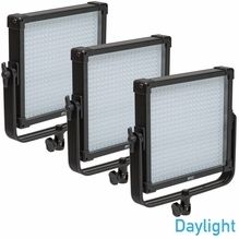 FV Lighting K4000 SE Daylight 1x1 LED 3 Light Kit - AB Gold Mount