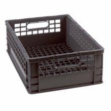 Half Milk Crate 1/2 Grey Storage Bin