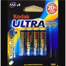 Kodak Ultra Premium AAA Alkaline Battery 4 Pack
