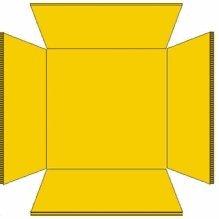 Milk Crate Liner Plastic Square, Fits 16 Quart Crates