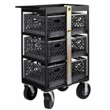 Modern Studio 6 Milk Crate Cart with Crates