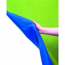 Reversible Blue Green Screen Curtain 10'x24' LL LC5887