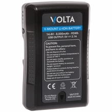 Volta 95wh Li-Ion Battery V-Mount 14.4V w/ USB and D-Tap