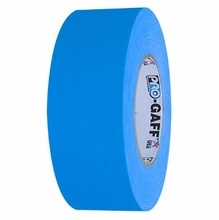 "ProTape Pro-Gaff Fluorescent Blue Gaffers Tape 2"" x 50 Yards"