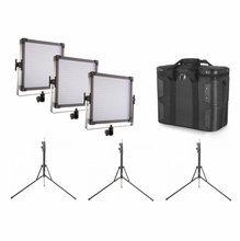 F&V Lighting K4000S Bicolor LED 3 Light Kit w/ Stands AB-Mount
