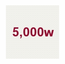 5,000W
