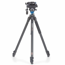 Benro Video Tripod Kit S6 Head Aluminum Flip Lock Legs