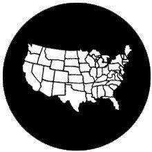 Rosco America United States Map 77877 Standard Steel Gobo
