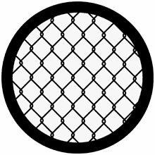 Rosco Chain Link Fence 78258 Standard Steel Gobo