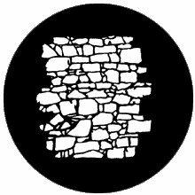 Rosco Dry Stone Wall 2  77951 Standard Steel Gobo