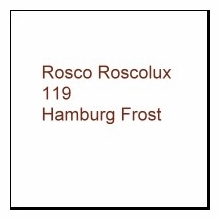 "Rosco Roscolux 119 Light Hamburg Frost 6"" x 6"" Gel"