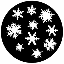 Rosco Snowflakes 71048 Standard Steel Gobo