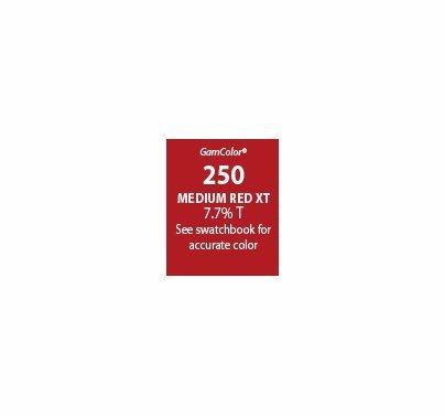 """GAM GAMcolor 250 Medium Red XT Lighting Gel Filter Sheet 20""""x24"""""""