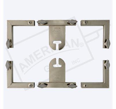 "American Grip 12x12' – 1"" Hardware ONLY – 4 Corners & 2 Slider w/ Ear"