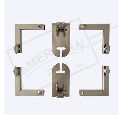 "American Grip 12x12' Frame (4) 12' x 1"" Sq Alum, 4 Corners & 2 Removable Ear Sliders"