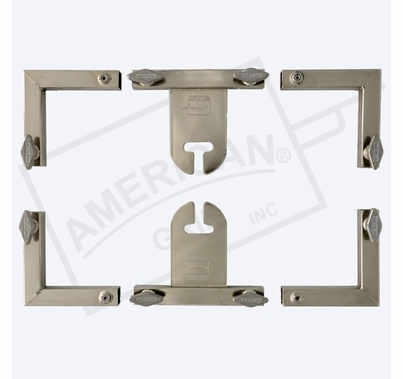 "American Grip 12x12' Frame (4) 12'x1"" Sq Alum, 4 Corners & 2 Sliders w/ Ear"