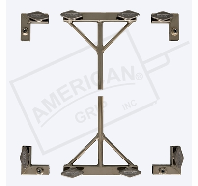 American Grip 8' x 8' – 3/4in. Hardware ONLY – 4 Corners & 2 Sliders w/ 5/8in. Pin