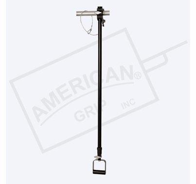American Grip Alum Medium Duty 4' to 8' Adjustable Extension, Black