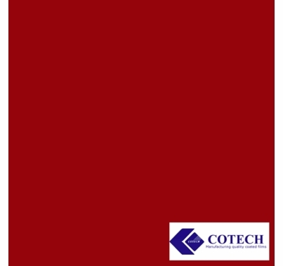 "Cotech 27 Medium Red Lighting Gel Filter Sheet 20""x24"""