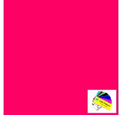 "Lee 113 Magenta Lighting Gel Filter Sheet 21""x24"""