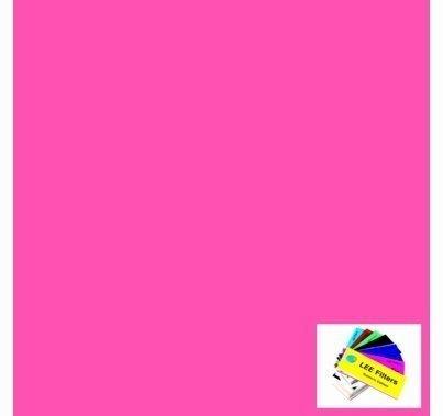 Lee 128 Bright Pink Lighting Gel Filter Roll 4ft. x 25ft