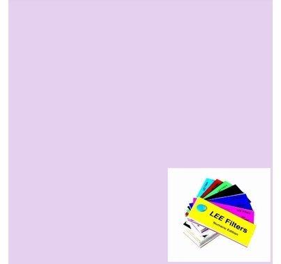 """Lee 702 Special Pale Lavender Lighting Gel 21"""" x 24"""""""